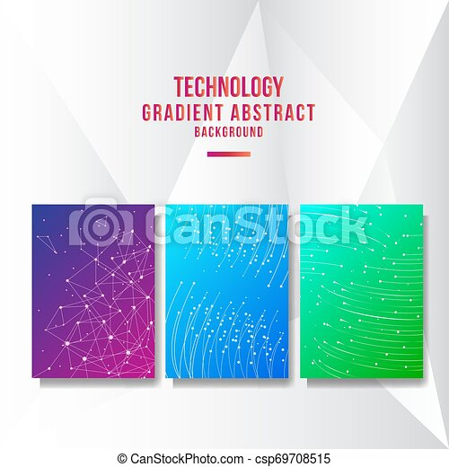 Abstract technology cover background - csp69708515