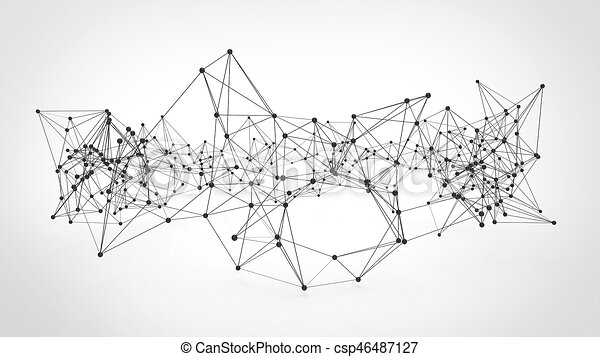 Abstract technology futuristic network - plexus background - csp46487127