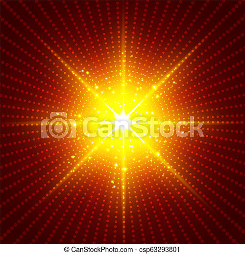 Abstract Technology Futuristic Red Neon Radial Light Burst Effect On Dark Background