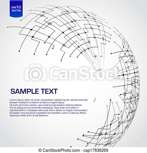 Abstract technology globe - csp17836269