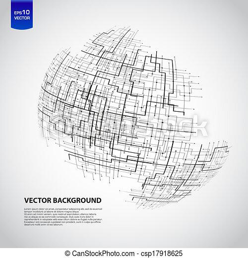 Abstract technology globe - csp17918625