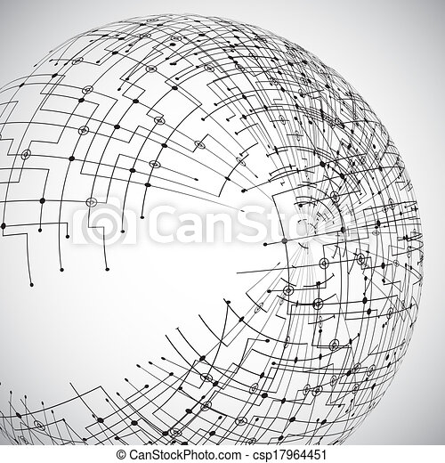Abstract technology globe - csp17964451