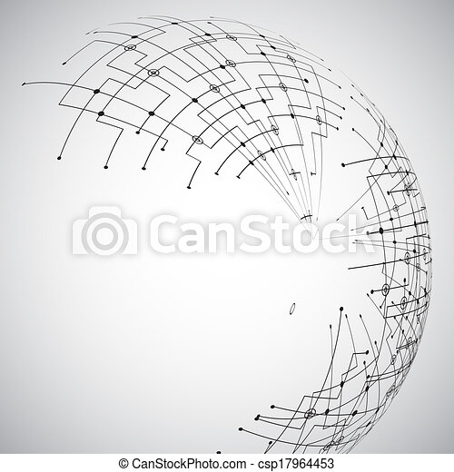 Abstract technology globe - csp17964453