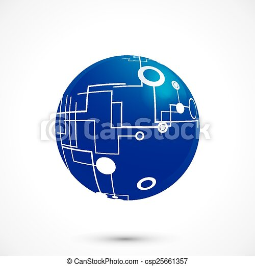 Abstract technology globe - csp25661357