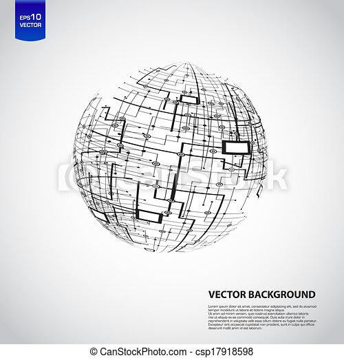 Abstract technology globe - csp17918598
