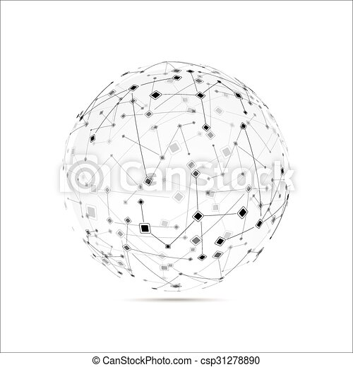 Abstract technology globe - csp31278890
