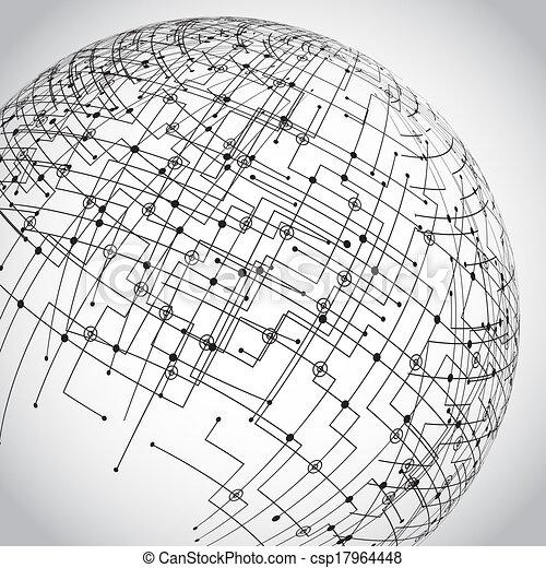 Abstract technology globe - csp17964448