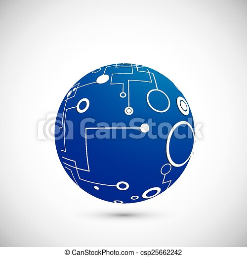 Abstract technology globe - csp25662242