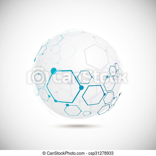 Abstract technology globe - csp31278933