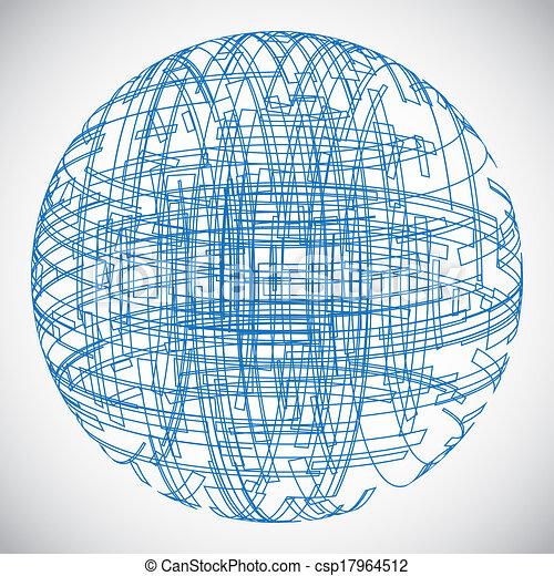 Abstract technology globe - csp17964512