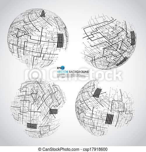 Abstract technology globe - csp17918600