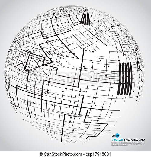 Abstract technology globe - csp17918601