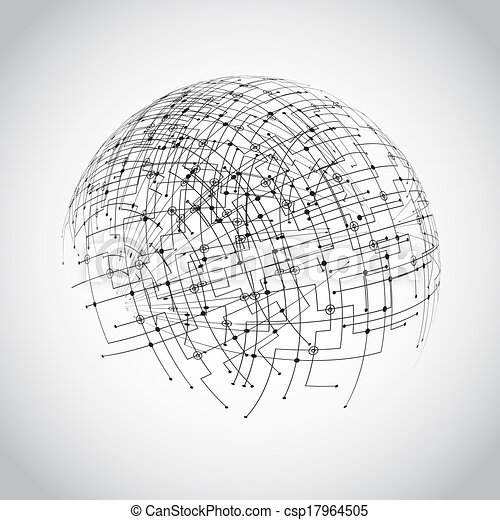 Abstract technology globe - csp17964505