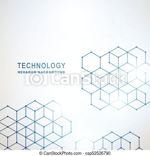 Abstract Technology hexagon background - csp52526790