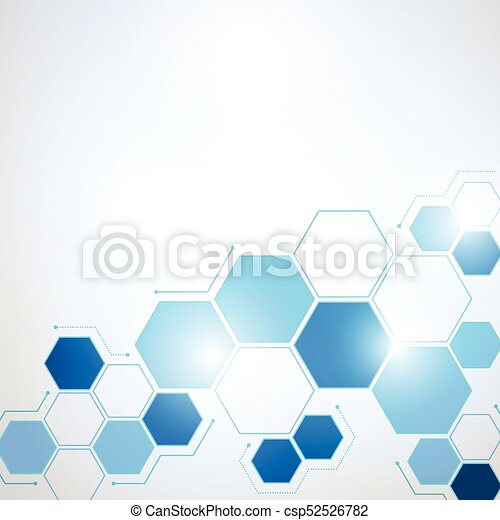 Abstract Technology hexagon background - csp52526782