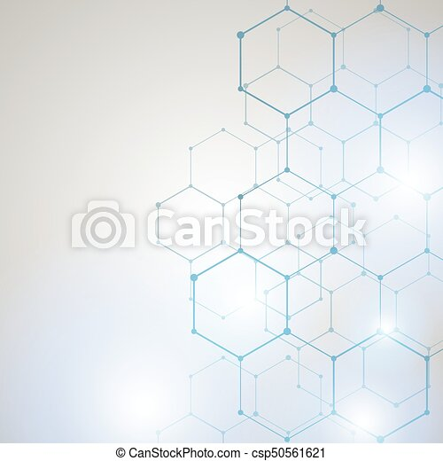 Abstract Technology hexagon background - csp50561621