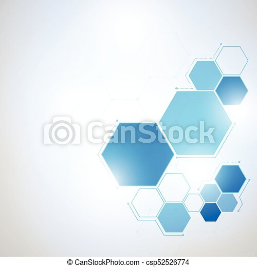 Abstract Technology hexagon background - csp52526774