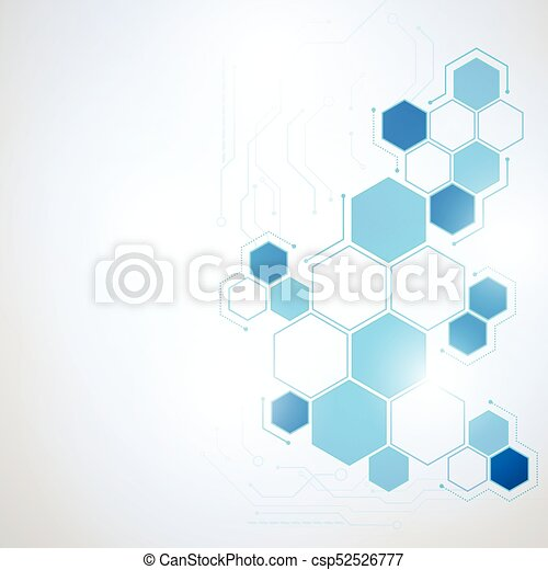 Abstract Technology hexagon background - csp52526777