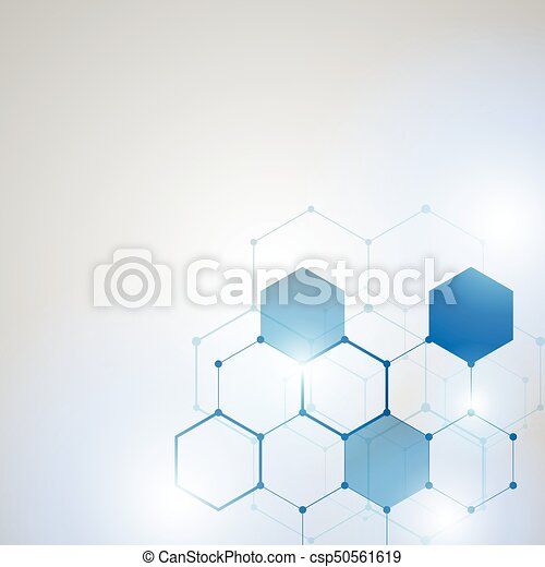 Abstract Technology hexagon background - csp50561619