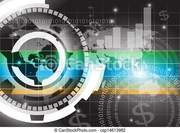 Abstract technology vector background - csp14613982