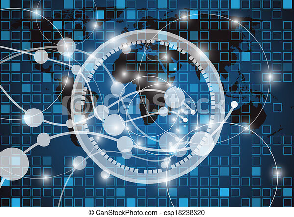 Abstract technology vector background - csp18238320