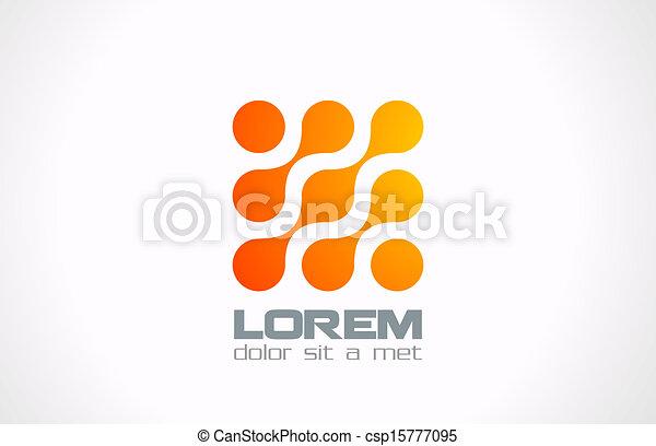 Abstract Technology Vector Logo Design Template Molecule Nanotechnology Dna Theme Creative Concept Icon Corporate Company Identity