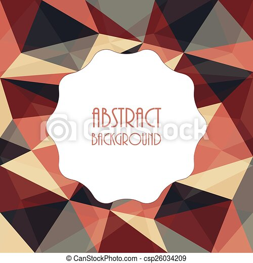 Abstract template background with triangle shapes design - csp26034209