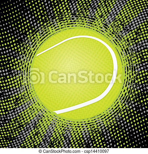abstract tennis background - csp14410097