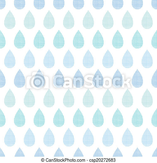 Abstract textile blue rain drops stripes seamless pattern background - csp20272683