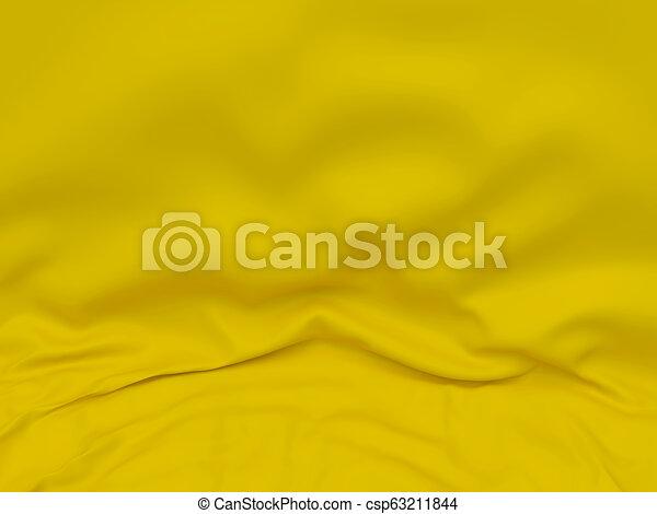 Abstract Texture, Yellow Silk - csp63211844
