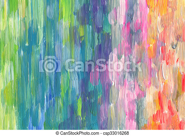 Abstract textured acrylic hand painted background - csp33016268