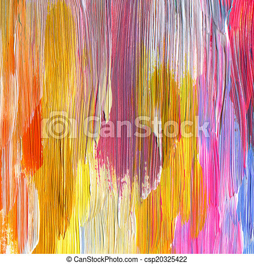 Abstract textured acrylic hand painted background - csp20325422