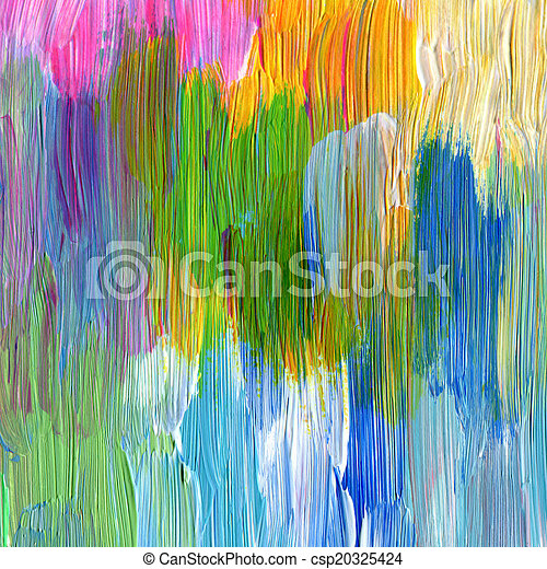 Abstract textured acrylic hand painted background - csp20325424