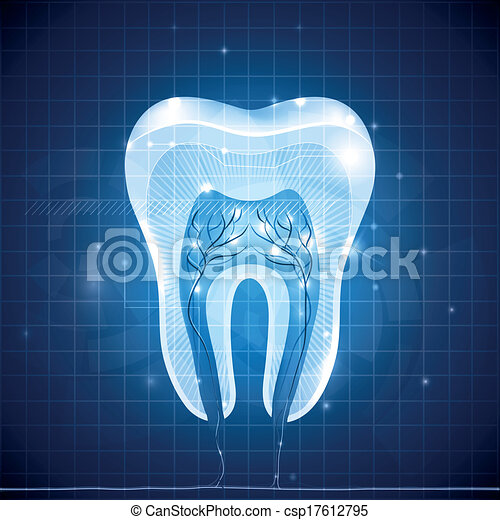 Abstract tooth cross section - csp17612795