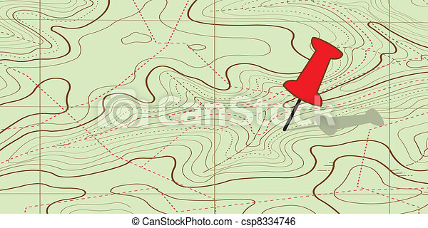 Abstract topographical map.  - csp8334746
