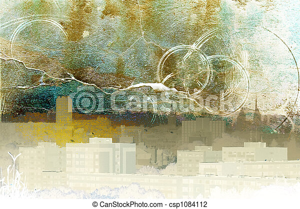Abstract town - csp1084112