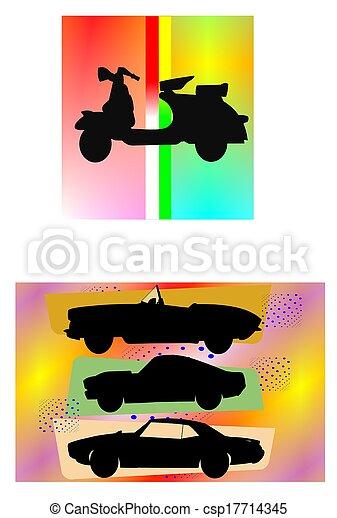 abstract transportation patterns  - csp17714345
