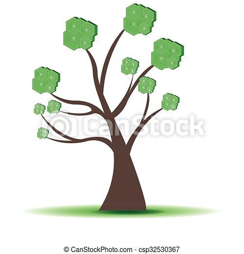 Abstract tree - csp32530367