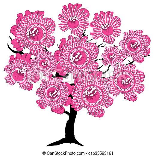 abstract tree - csp35593161