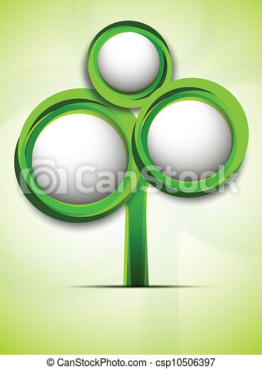 Abstract tree in green color - csp10506397
