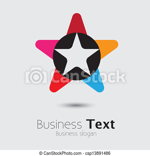 Abstract trendy colorful star icon or sign- vector graphic - csp13891486