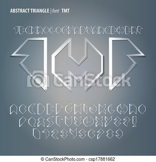 Abstract Triangle Alphabet and Digit Vector - csp17881662
