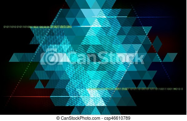 Abstract triangle  background - technology, science, programming - csp46610789