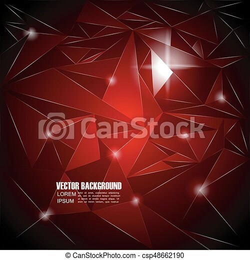 abstract triangle background - csp48662190