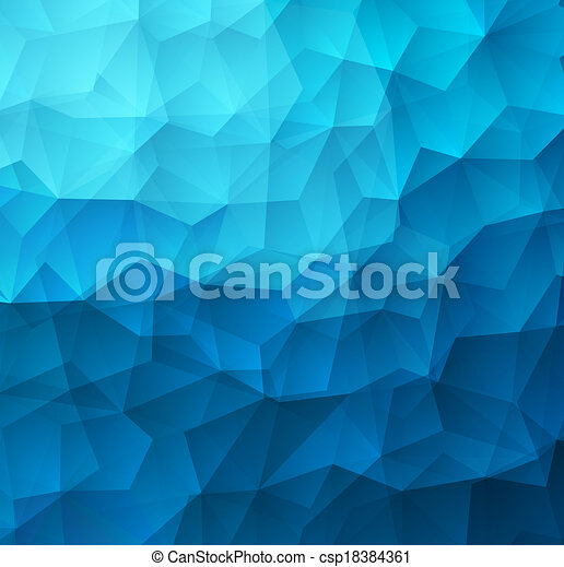 Abstract Triangle Geometrical Colorful Background - csp18384361