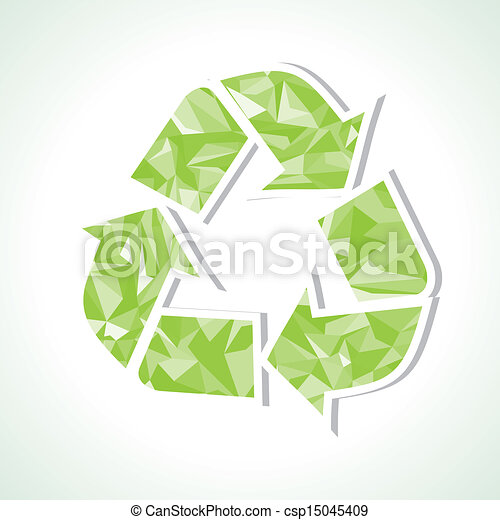 Abstract triangle recycle icon  - csp15045409