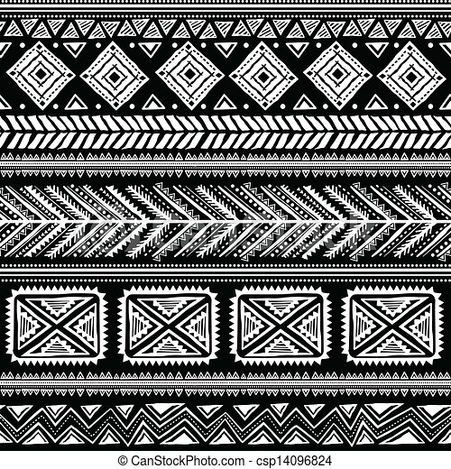 Abstract tribal pattern Mesmerizing African Tribal Patterns