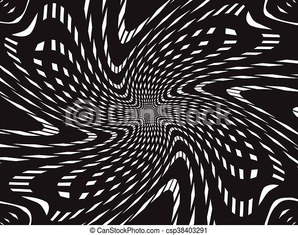abstract tunnel grid black and white background - csp38403291