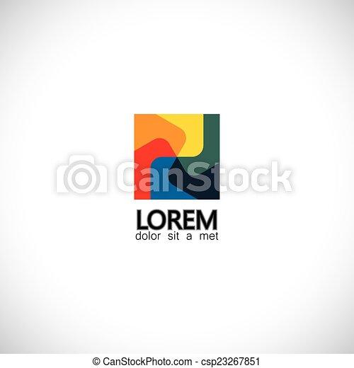 abstract unusual creative colorful spiral icon - concept vector  - csp23267851