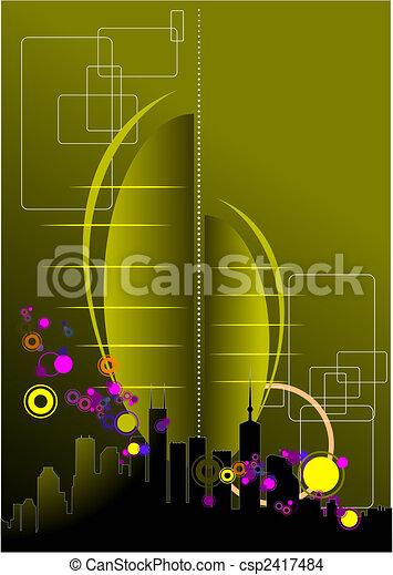 Abstract urban modern composition - csp2417484